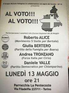 volantino incontro elezioni regionali 2019